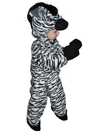 Zo11/00 Gr. 86-92 Zebra Kostüm für Fasching und Karneval, Kostüme für Baby Babies Kleinkinder, Faschingskostüm, (Pferd Kostüm Kleinkind)