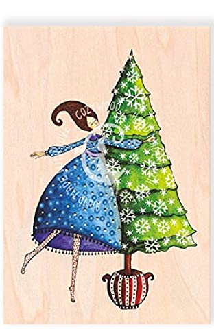 COZYWOOD® HOLZKARTE - Weihnachtskarte aus dünnem Holz   Postkarte   Diverse Motive   Jede Karte individuell und einzigartig   FSC Zertifiziert   Ökologisch nachhaltig   Nikolaus   Heiligabend, # Cozywood:Weihnachtszeit