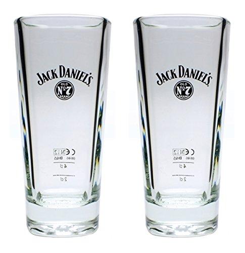 2 Stück original Jack Daniels Whisky Longdrink Gläser Set