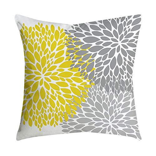 Xmiral Kissenbezüge Zuhause Decor Ananas Blatt gelb Sofa Auto Pillowcase Kopfkissenbezug(A) -