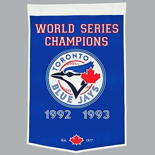 MLB Toronto Blue Jays Banner Wimpel Pennant World Series Champions Wool Blend -