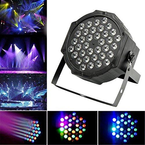 JUDYelc LED Lichteffekte Bühnenlicht Tanzfläche Beleuchtung, 36 LED Par Light Bühne Licht Disco Licht 7 Farben Lichter für Bühne blinken mit 4 Arbeitsmodellen RGB Poweful Bühnenlampe für DJ Club Hochzeit Familie Party Disco Feier
