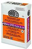 ARDEX G9S Flex-Fugenmörtel 2-15 mm 12,5 kg - silbergrau - Schnell erhärtender Flex-Fugenmörtel. Für Fugenbreiten von 2-15 mm, an Wand und Boden, im Innen- und Außenbereich.