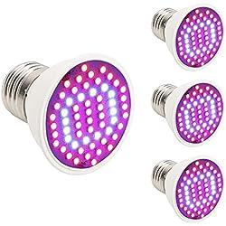(Satz von 4) XJLED E27 4W 44 Rot 16 Blau-Anlage wachsen Glühlampe für hydroponischen Garten und Gewächshaus-