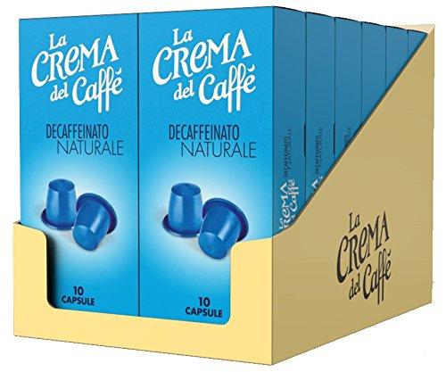 La Crema del Caffè Capsule Compatibili Nespresso Decaffeinato Naturale - 120 Capsule