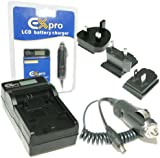 Ex-Pro® Fuji NP-95, NP95, FNP95 - LCD Indication Fast Charge Digital Camera Travel charger for Fuji Finexpix [See Description for Models]