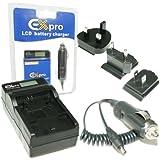 Ex-Pro® Samsung IA-BH125C, IABH125C, IA-BH125 - LCD Indicateur de charge Chargeur rapide de voyage numérique caméscope pour Samsung Camcorder Series HMX-R10, HMXR10, HMXR10BP, HMX-R10BP, HMXR10SP, HMX-R10SP