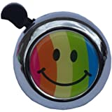 Rainbow Smiley Face Bicycle Bell Black