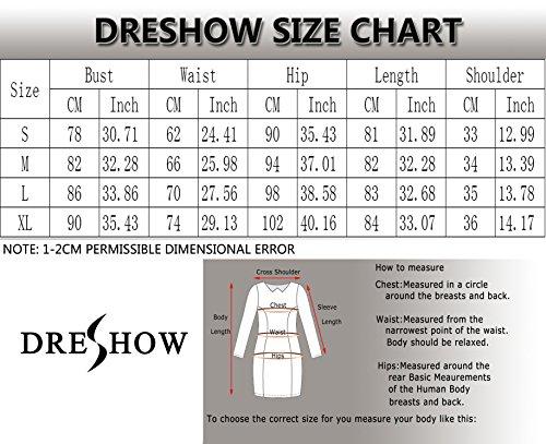 DRESHOW-Womens-Long-Sleeve-Deep-V-Neck-Stretch-Bodycon-Party-Bandage-Mini-Dress