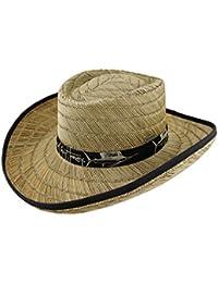 4d7818fd8c3fb Guy Harvey Wicker Mens Sun Hats Guy Harvey Wide Brim Straw Gambler Hat  W Black Band And Trim Tan Model  …