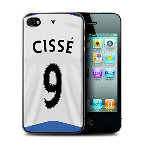 Offiziell Newcastle United FC Hülle / Case für Apple iPhone 4/4S / Pack 29pcs Muster / NUFC Trikot Home 15/16 Kollektion Cissé