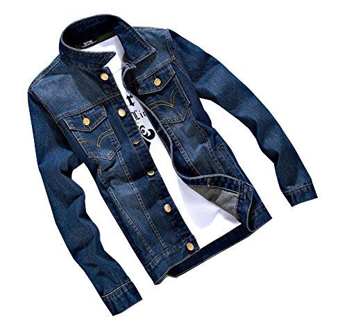 Herren Beiläufige Cowboy Jeansjacke Frühlingsjacke Herbst Jacke Kurzjacke Regular Fit Langarm mit Muster 5