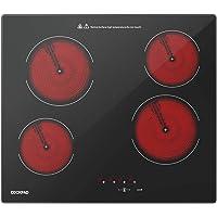COOKPAD Plaque Vitroceramique 4 Feux avec 9 Niveaux de Puissance, Plaque de Cuisson Electrique 60cm, Tables de Cuisson…