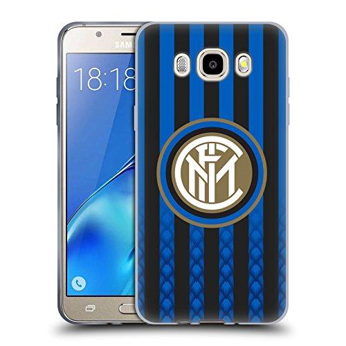Head Case Designs Ufficiale Inter Milan Casa 2018/19 Kit Crest Cover in Morbido Gel Compatibile con Samsung Galaxy J5 (2016)