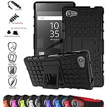Sony Xperia Z5 Funda,Mama Mouth Heavy Duty silicona híbrida con soporte Cáscara de Cubierta Protectora de Doble Capa Funda Caso para Sony Xperia Z5 E6633,Negro