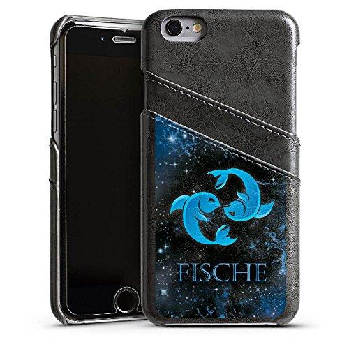 Apple iPhone 4 Housse Étui Silicone Coque Protection Signes du zodiaque Poissons Astrologie Étui en cuir gris