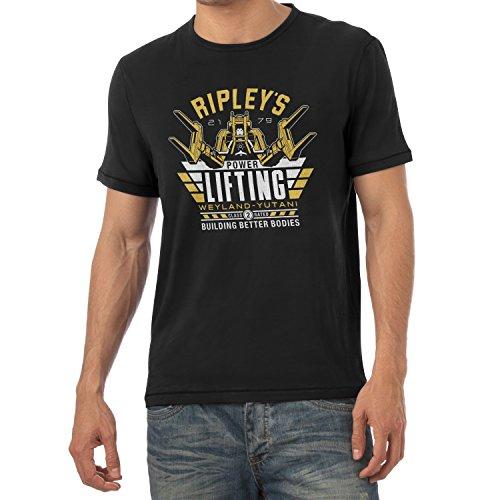 Kostüm Wirt Weihnachts (TEXLAB - Ripley's Power Lifting - Herren T-Shirt, Größe XXL,)