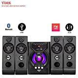 York 4.1 Channel Speakers_Home Theatre with Bluetooth, FM, AX Line, USB_Connect with Laptop, Tablet, Mobile, TV