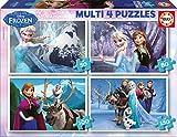 Educa 16173 - Kartonpuzzle - Multi Frozen - Eiskönigin, 4-er Pack