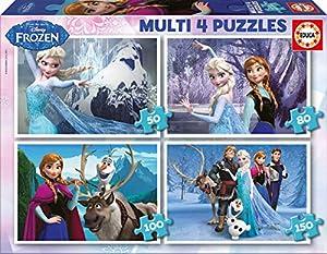 Educa Borrás- Frozen 50-80-100-150 Piezas Dibujos Animados y cómic Puzzle (16173)