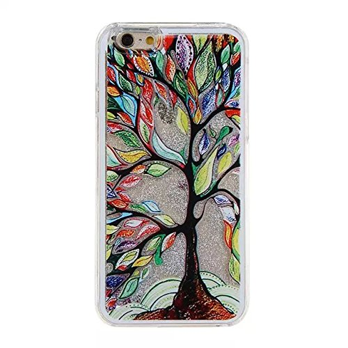iPhone 7 Hülle Transparent,iPhone 7 Hülle Glitzer,iPhone 7 Case Slim,Schutzhülle Für iPhone 7 Hülle Transparent Hardcase,EMAXELERS 3D Kreative Liquid Bling Kristall Glitzer Hülle Case Für iPhone 7,iPh Heart Dandelion 11