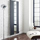 Hudson Reed - Design Heizkörper Vertikal mit Spiegel Anthrazit - 1800 x 499 mm