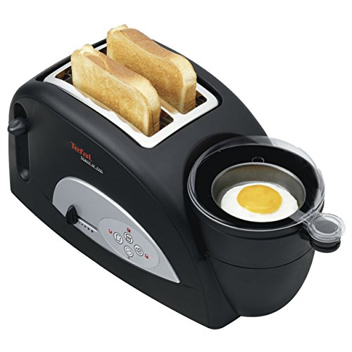Tefal TT550015 Toast and Egg Two Slice Toaster and Egg Maker, 1200 W – Black