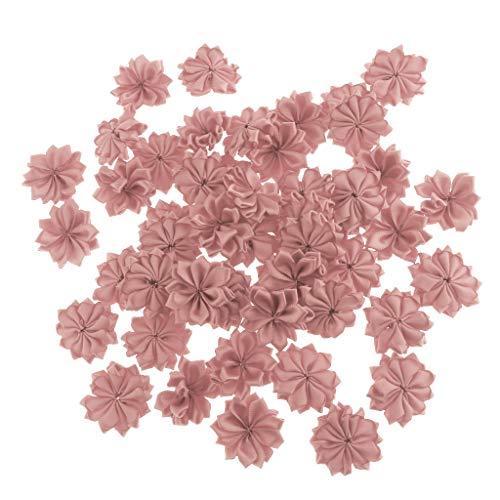 Fenteer 50 STK. Künstliche Stoffblumen Blütenköpfe Blumen-Köpfe Stoffrosen Tischdeko Dekoration...