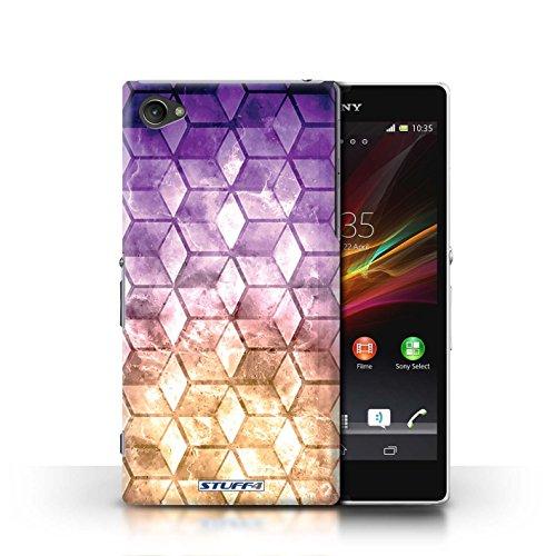 Kobalt® Imprimé Etui / Coque pour Sony Xperia Z1 Compact / Bleu/rose conception / Série Cubes colorés Violet / Orange