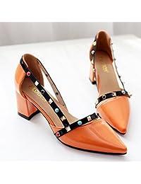 LGK   FA Sommer Damen Sandalen Sommer Spitz Flach Sandalen High Heels  Modische Ferse Schuhe e8afe2f7ef