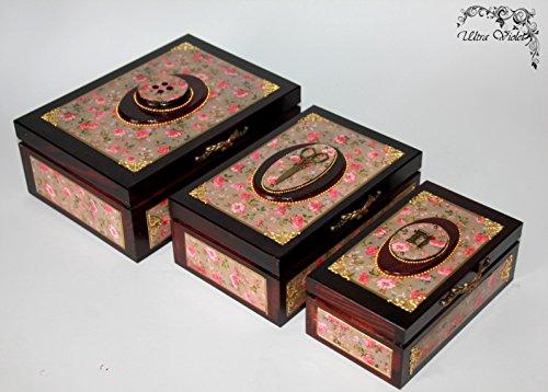 3 Nähen / Stricknadeln Box mit Nadelkissen , Nähmaschine, Garn, Nadel, quilt, Sewing Supplies, Tilda,Nähkorb, Stricknadeln Box -
