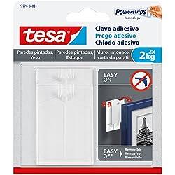 Tesa 77776-00001-00 Crochet adhésif pour murs peints et plâtrés 2 kg