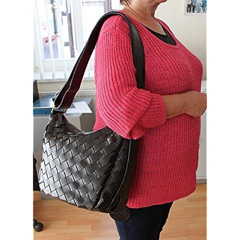 Borsa a tracolla donna Sonder offerta 661 marrone scuro sacchetto