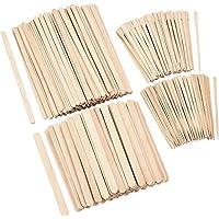 Lvcky - Juego de 600 Varillas de Cera para aplicar en Madera para depilación de Cejas, espátulas, para extracción de Pelo, 4 tamaños