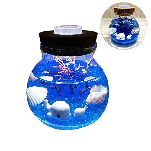 tlicht Kreative Sch?ne Aquarium DIY Licht Dauerhafte Wal Blauer Sand Haushalt Dekoration Simulation QuAlle Led Lampe ()