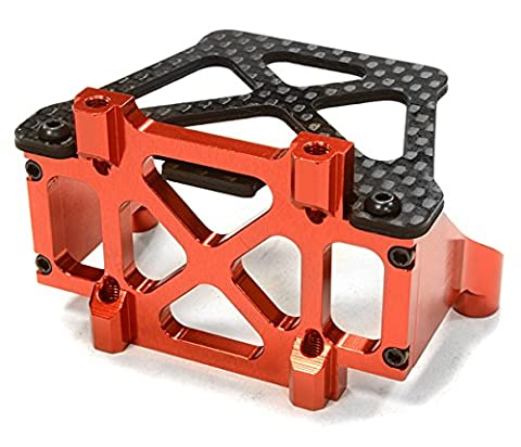 Integy RC Model Hop-ups C26149RED Billet Machined Replacement Rear Bulkhead Brace for C26146 LCG Conversion Kit