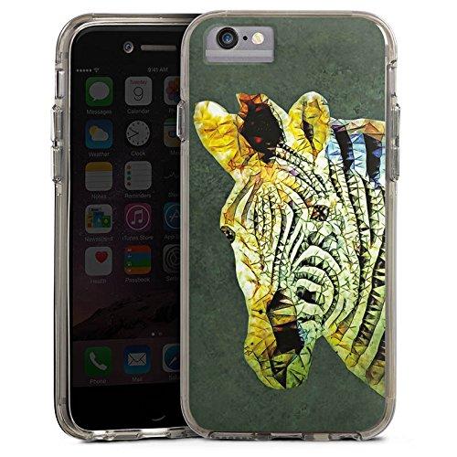 Apple iPhone X Bumper Hülle Bumper Case Glitzer Hülle Zebra Dschungel Farbe Bumper Case transparent grau