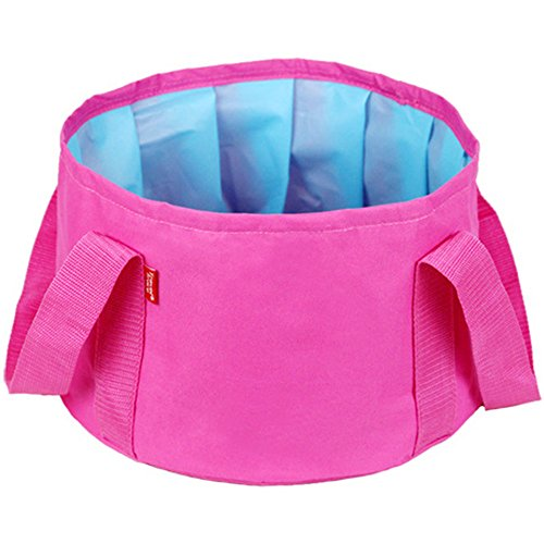 xiangshang shangmao 15L extérieur Pliable Pliable Camping Bassin évier Lavage Sac Camping Rose
