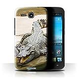 Stuff4® Hülle/Hülle für Huawei Ascend Y600 / Krokkodil/Alligator Muster/Wilde Tiere Kollektion
