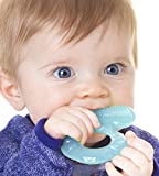 Nuby Teethe-eez Soft Silicone Teether with Bristles (Aqua)