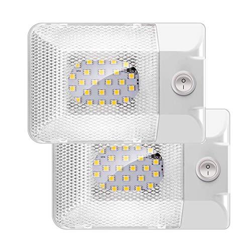 uchten 24LED 300LM RV KFZ Innenbeleuchtung Auto mit Schalter Universal Beleuchtung für Anhänger Wohnmobil Boot ()