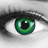 Funnylens 1Coppia Color Verde Crazy Fun Shining anni lenti a contatto + 4Sangue kapseln. perfetto per Halloween, Carnevale, o carnevale con gratis lenti a contatto senza Forza.