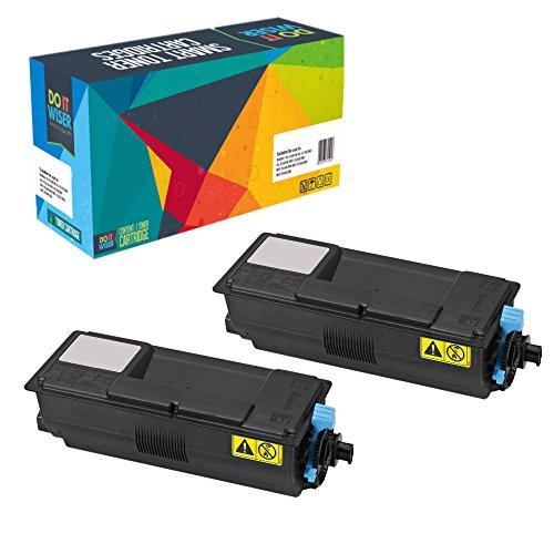Preisvergleich Produktbild Doitwiser Toner Schwarz 2 Packung Kompatibel für Kyocera TK3100 TK-3100 FS2100D FS2100DN M3040DN M3540 hohe Kapazität