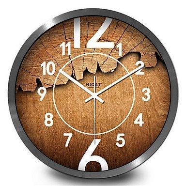 Dw hckk m&t antiquariato del legno di cricche di tessili per la casa studio lounge orologio da parete, 30 cm, sa