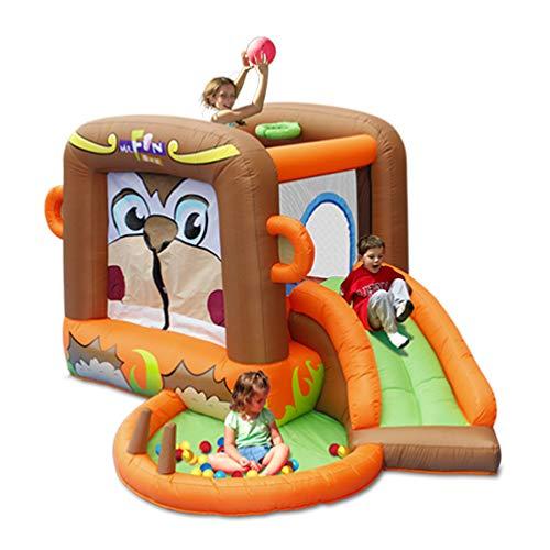 XGYUII Bouncy Toy Pool Castle Kinder AFFE Springen Bett Mit Rutschen Für Kinder Wasserrutsche Klettern Rutsche Springen Trampolin (255 * 300 * 170 cm)
