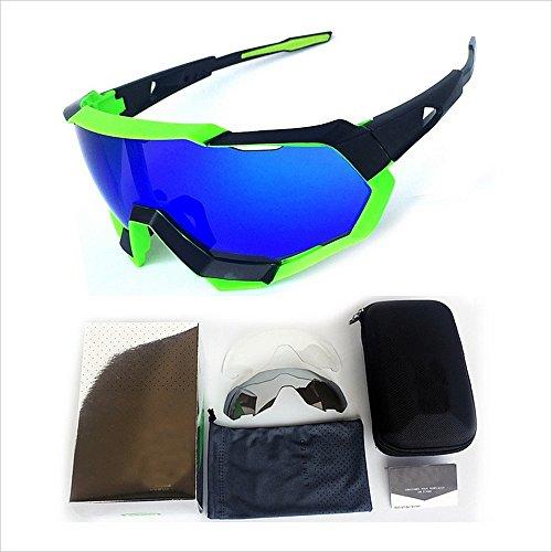 Yiph-Sunglass Sonnenbrillen Mode Polarisierte Sport Sonnenbrille Vollformat Bunte PC Objektiv Langlebig Für Männer Frauen Outdoor Seaside Reise Fischen Fahren (Farbe : Grün)