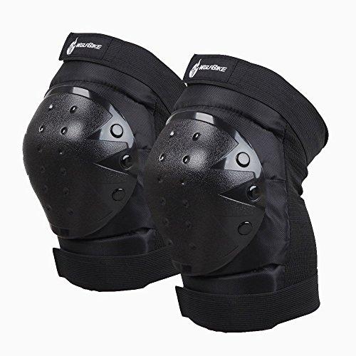 Docooler Protettore di Ginocchio Ginocchiere Rotula PVC ginocchiera di Pattinaggio Sci Snowboard