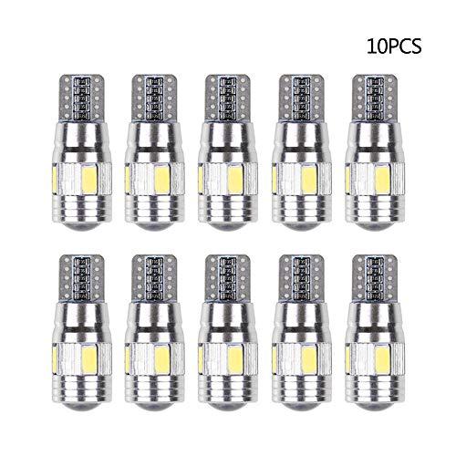 Refaxi 10 PCS 194 W5W T10 5630 6SMD Largeur Lumière Voiture Caché Canbus Erreur Sans Wedge Ampoule Lampe