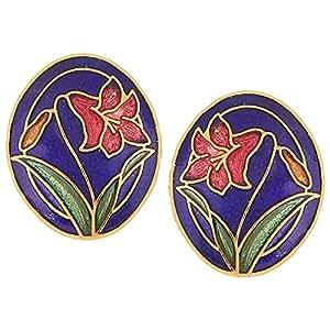 Jazz Blue Meenakari Stud Earrings for Women
