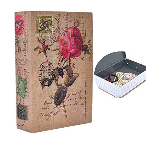 Money Safe Diversion Books Libro seguro oculto portátil con cerradura de combinación para almacenamiento de dinero seguro Tamaño M: 24.1 * 15.7 * 5.5cm - 9.5 * 6.2 * 2.2in
